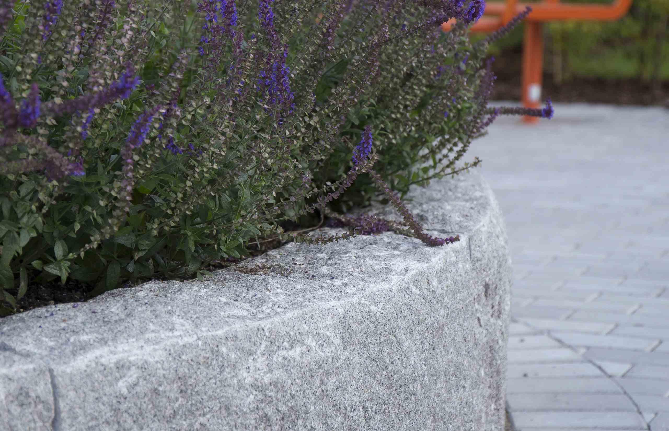 blockstensmur granit — Benders